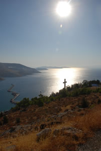 View from headland above Kalimnos town